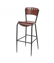 KFI Seating BR3818A Wood Low-Back Barstool (Light Mahogany)