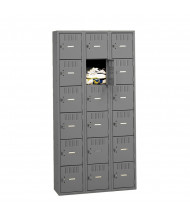 Tennsco Unassembled 6-Tier 3-Wide Steel Box Lockers without Legs (Shown in Medium Grey)