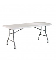 "Office Star 72"" x 30"" Rectangular Multi-Purpose Folding Resin Table"