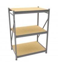 "Tennsco 24"" D 3-Shelf Particleboard Deck Bulk Storage Unit"