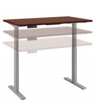 "Bush 48"" W x 24"" D Laminate Top Electric 27"" - 47"" Height Adjustable Standing Desk (Shown in Harvest Cherry / Grey)"