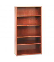 Basyx BW2193HH 5-Shelf Veneer Bookcase in Bourbon Cherry Finish
