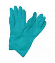 Boardwalk Flock-Lined Nitrile Gloves, 2X-Large, Green, 12/Pairs