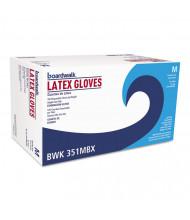 Boardwalk Powder-Free Latex Exam Gloves, Medium, Natural, 4 4/5 mil, 100/Pack