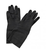 "Boardwalk Neoprene Flock-Lined Gloves, Long-Sleeved, 12"", X-Large, Black, 12/Pair"