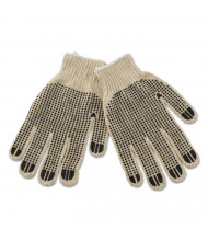 Boardwalk PVC-Dotted String Knit Utility Gloves, 12/Pairs
