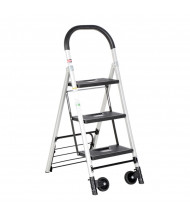 "Vestil 47"" H 3-Step Aluminum Ladder Cart 300 lb. C-130-3"