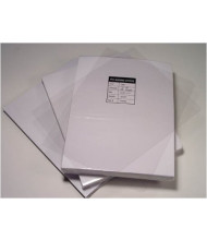 "Akiles 7 Mil 8.5"" x 11"" Square Corner With Tissue Interleaving Crystal Clear Binding Covers"