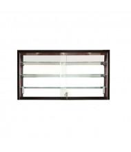 "Tecno C12-36 36"" Shadow Box Wall Display Case 9"" D x 24"" H (black frame/pearwood)"