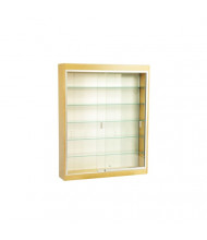 "Tecno C12-40 40"" Shadow Box Wall Display Case 9"" D x 50"" H (silver frame/oak finish)"