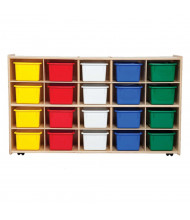 Wood Designs Contender Mobile 20 Tray Storage Unit with Trays (Shown with Assorted Trays)