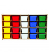 Wood Designs Contender 20 Tray Storage Unit with Trays, RTA (Shown with Assorted Trays)