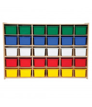 Wood Designs Contender 30 Tray Storage Unit with Trays, RTA (Shown with Assorted Trays)