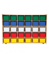 Wood Designs Contender Mobile 30 Tray Storage Unit with Trays (Shown with Assorted Trays)