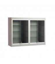 "Tecno C17 48"" W Rectangular Shadow Box Wall Display Case 14"" D x 36"" H (Gray)"