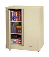 """Basyx C184236L 36"""" W x 18"""" D x 42.75"""" H Easy-to-Assemble Storage Cabinet in Putty"""
