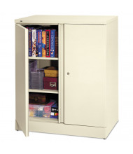 """Basyx C184236Q 36"""" W x 18"""" D x 42.75"""" H Easy-to-Assemble Storage Cabinet in Light Grey"""
