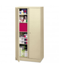 "Basyx C187236L 36"" W x 18"" D x 72"" H Easy-to-Assemble Storage Cabinet in Putty"