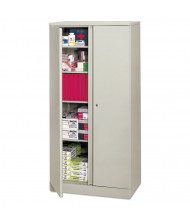 "Basyx C187236Q 36"" W x 18"" D x 72"" H Easy-to-Assemble Storage Cabinet in Light Grey"