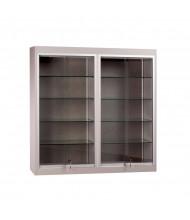 "Tecno C18 48"" W Square Shadow Box Wall Display Case 14"" D x 48"" H (Gray)"