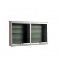 """Tecno C19 Economy 60"""" W Square Shadow Box Wall Display Case 14"""" D x 36"""" H (Gray)"""