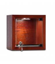 "Tecno C21 8"" W Square Shadow Box Wall Display Case 6"" D x 8"" H (in mahogany)"