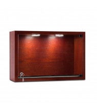 "Tecno C23 18"" W Rectangular Shadow Box Wall Display Case 6"" D x 12"" H (in mahogany)"