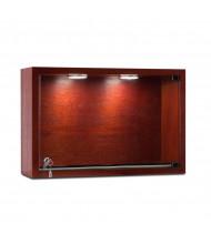 "Tecno C23 18"" W Rectangular Shadow Box Wall Display Case 6"" D x 12"" H (in mahogany)"