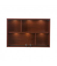 "Tecno C24 36"" W Rectangular Shadow Box Wall Display Case 6"" D x 24"" H (rosewood with black frame)"