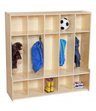 "Wood Designs Contender 47"" W 5 Section Seat Locker"