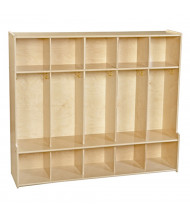 "Wood Designs Contender 54"" W 5 Section Seat Locker"
