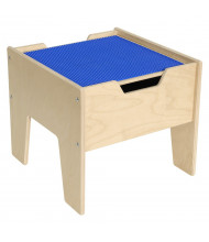Wood Designs Contender 2-N-1 LEGO Compatible Activity Table (Shown in Blue)