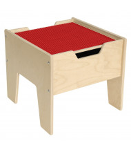 Wood Designs Contender 2-N-1 Activity Table with LEGO Compatible Top (Shown in Red)