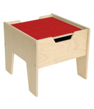 Wood Designs Contender 2-N-1 Activity Table with Red LEGO Compatible Top, RTA