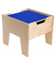 Wood Designs Contender 2-N-1 DUPLO Compatible Activity Table (Shown in Blue)