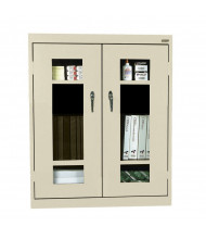 "Sandusky 42"" H Elite See-Thru Counter Height Storage Cabinets, Assembled (Shown in Putty)"