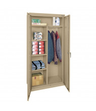 "Sandusky 36"" W x 78"" H Classic Combination Storage Cabinets, Assembled (Shown in Sand)"