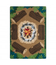 Joy Carpets Campfire Fun Rectangle Classroom Rug
