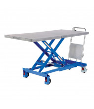 Vestil Manual Hydraulic Single Scissor Elevating 400 to 2000 lb Load Lift Carts