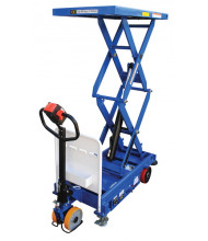 "Vestil CART-1000D-DC-CTD Fully Powered Hydraulic Scissor Lift 1500 lb Load 24"" x 40"""