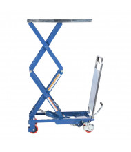 Vestil Manual Hydraulic Double Scissor Elevating 220 to 1500 lb Load Lift Carts (CART-200-D)