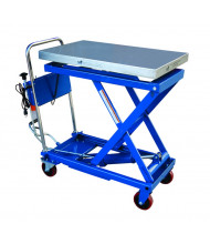 "Vestil CART-500-SCL Steel Scissor Cart with Built-In Scale 500 lb Load 19.5"" x 32"""