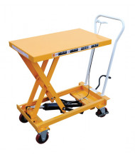"Vestil CART-550-AS Auto-Shift Manual Hydraulic Elevating Cart 550 lb Load 19.75"" x 32.75"""