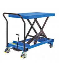 "Vestil CART-600-S-FR 600 lb Load 19.75"" x 33"" Heavy Duty Premium Single Scissor Lift Cart"