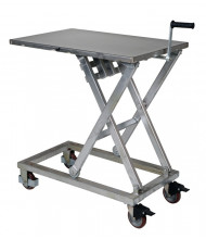 "Vestil CART-660-M-PSS Mechanical Partially Stainless Steel Scissor Cart 660 lb Load 23.5"" x 37"""
