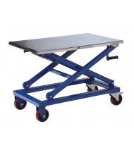 "Vestil CART-660-M Mechanical Steel Scissor Cart 660 lb Load 23.6"" x 37.4"""