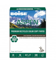 "Boise Aspen 8-1/2"" x 11"", 28lb, 500-Sheets, Recycled Copy Paper"