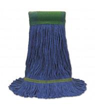 "O-Cedar Commercial Maxi-Clean 10.5"" W Loop-End Mop Head, Blue, Pack of 12"