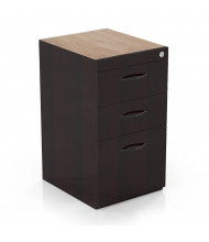 Mayline Corsica CBBFC 3-Drawer Box/Box/File Credenza Pedestal Cabinet (Shown in Mahogany)