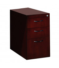 Mayline Corsica CBBFD 3-Drawer Box/Box/File Desk Pedestal Cabinet (Shown in Mahogany)